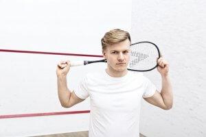 Adam Wasik - poznański trener squash w klubie 11punkt